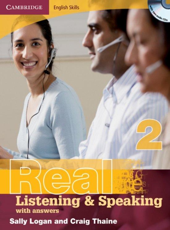 Boek cover Cambridge English Skills: Real Listening & Speaking with answers 2 book + audio-cd van Sally Logan (Onbekend)