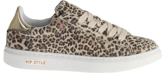 c9f1531aec4 HIP Meisjes Sneakers Panter H1754 - Beige - Maat 35
