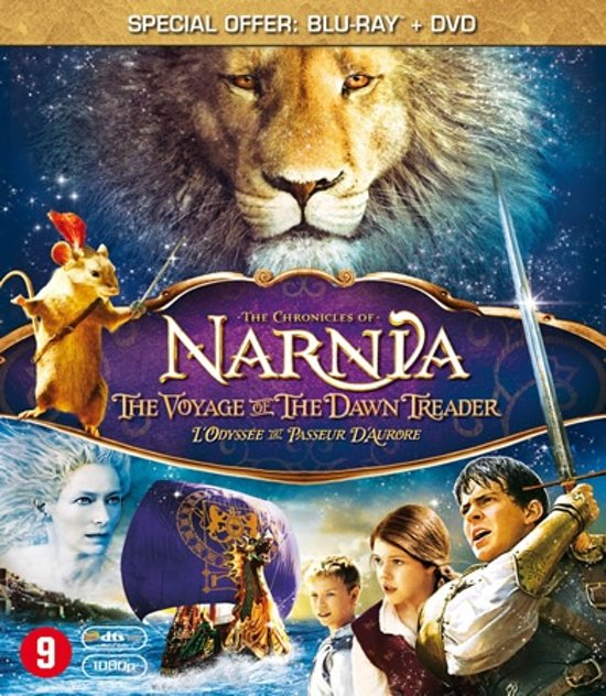 DVD cover van The Chronicles Of Narnia: The Voyage Of The Dawn Treader (Blu-ray+Dvd Combopack)