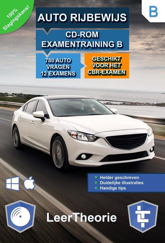 Auto Rijbewijs B - CD-ROM Auto Examentraining B - 845 oefenvragen - 13 Theorie Examens - Ontworpen voor het CBR theorie-examen 2018