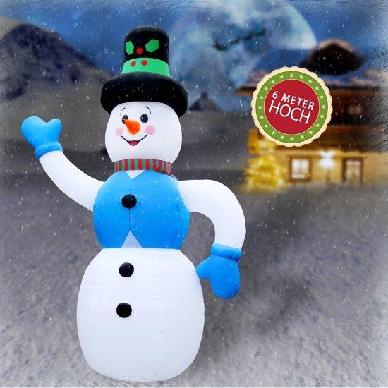Trend24 - XXXL Opblaas sneeuwman 6 meter 600 cm