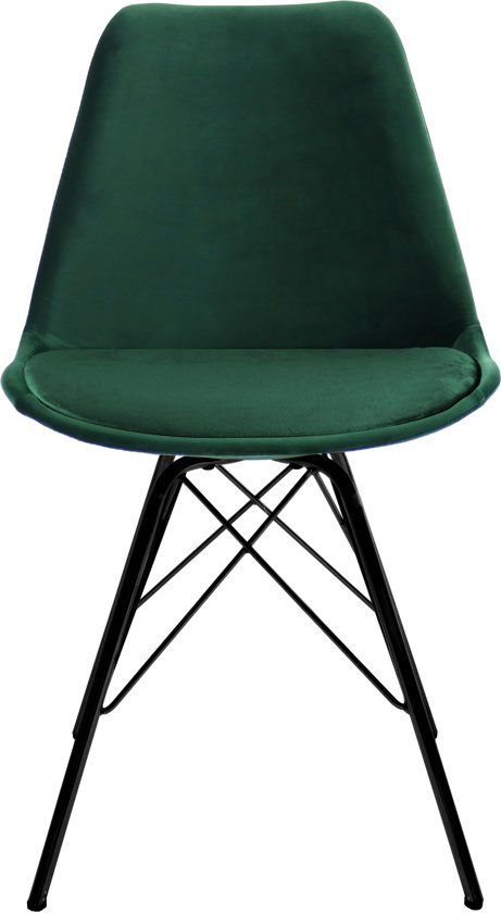 Kick designstoel - Velvet Donker Groen