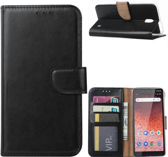 Nokia 1 Plus - Bookcase Zwart - portemonee hoesje