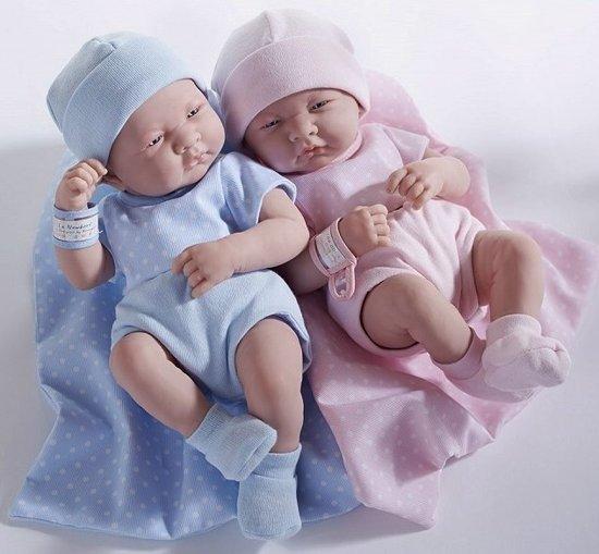 Berenguer Babypop La Newborn 36 cm Jongetje met speen en flesje