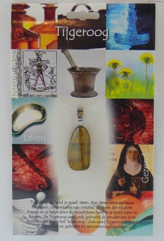 Spirituele hangersteen Tijgeroog goudkleurig