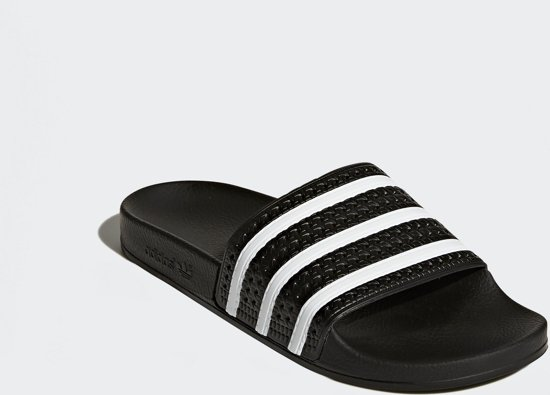 Adidas Black Core Slippers 46 Maat core Black Adilette Unisex white rqIFxnrpw