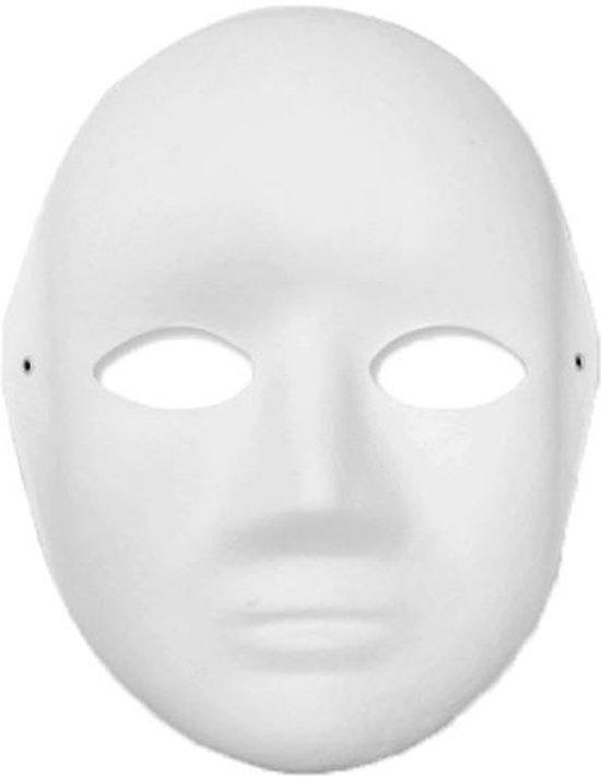 Papier mache masker vrouw