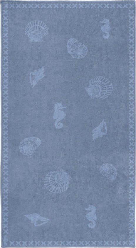 Seahorse Shells - Strandlaken XL - 100 x 200 cm - Jeans