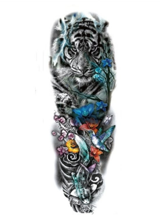 Water Overdraagbare Tijdelijke Full Arm Tattoo Tijger
