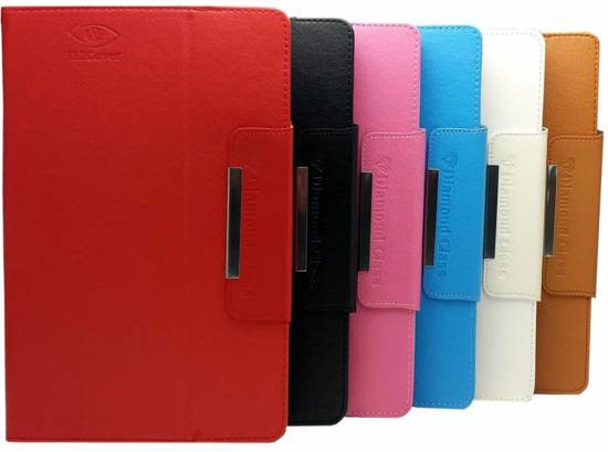 Toshiba Excite At10le A 108 Diamond Class Cover, Stijlvolle Hoes, Multi Stand Case, Roze, merk i12Cover in Veenhuizen