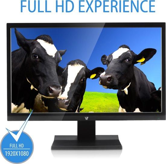 V7 L21500WDS-9K 21.5'' Full HD LED Flat Zwart computer monitor LED display