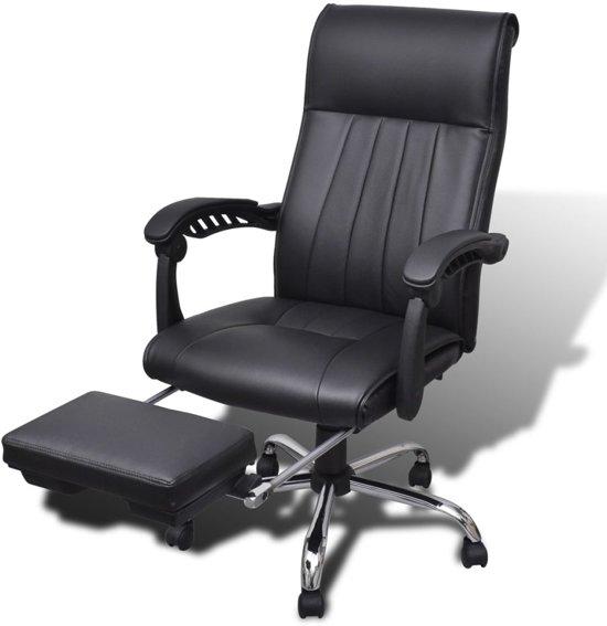 Verstelbare Bureaustoel Zwart.Bol Com Kunstleren Bureaustoel Met Verstelbare Voetsteun Zwart