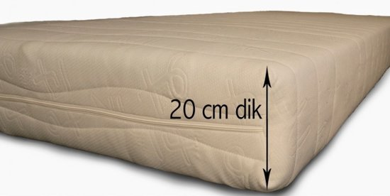 Bedworld 70x140 Peuter kleuter pocket matras koudschuim HR45 Medium ligcomfort