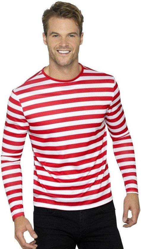 wit rood gestreept shirt