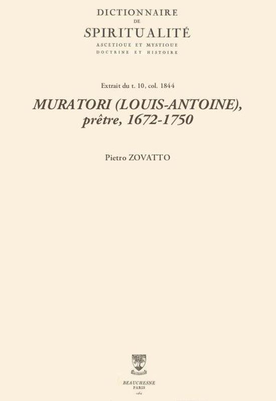 MURATORI (LOUIS-ANTOINE), prêtre, 1672-1750
