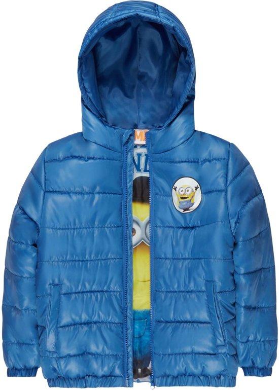 Gewatteerde Winterjas.Bol Com Minions Gewatteerde Winterjas Blauw Maat 128
