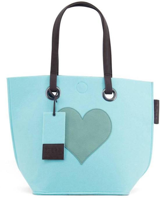 73effdc3d91 bol.com | Zebra Trends Natrural bag Vilt hart licht blauw