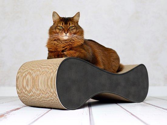 Cat-On® kartonnen krabmeubel LE VER M - 013 zwart