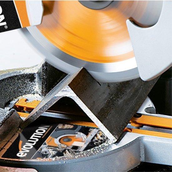 Evolution RAGE3 Radiaal afkortzaag 255 mm | staal | hout | aluminium