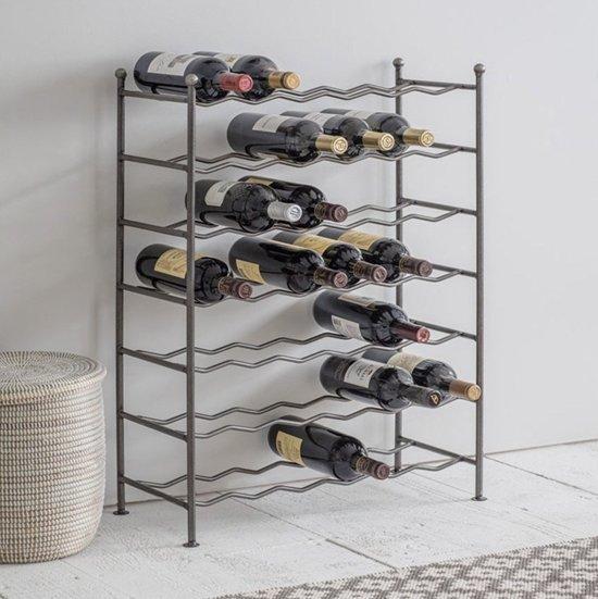 Goede bol.com | Wijnrek 42 flessen - grote metalen wijnrek metaal GC-82