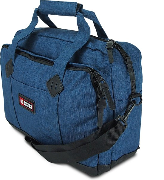 74b5ada2fe9 Canvas Laptoptas - Schoudertas - 15.6 inch - Enrico Benetti - Blauw