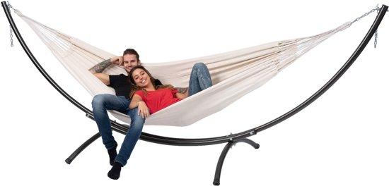 Hangmat met Standaard Tweepersoons 'Arc & Comfort' White