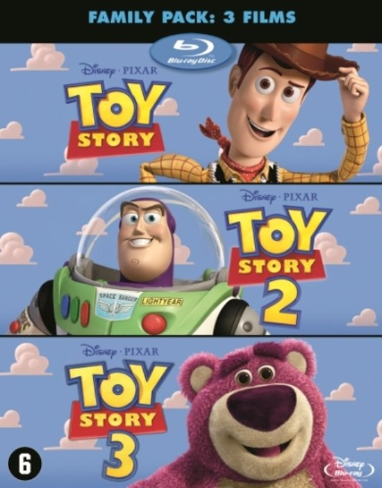 DVD cover van Toy Story Trilogy Pack (Blu-ray)