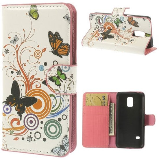 Samsung Galaxy S5 Mini Butterfly Leather Wallet Case in Epse