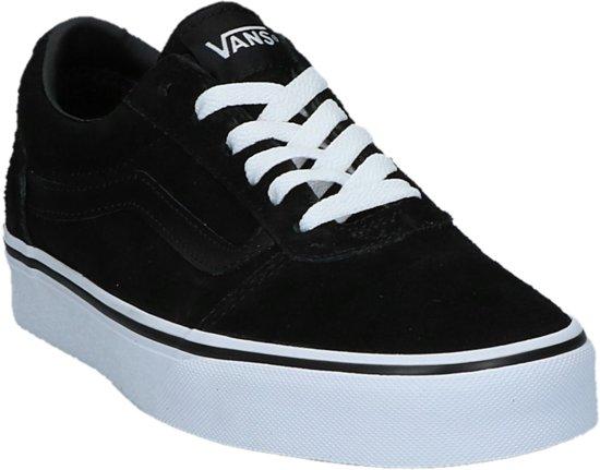 47e39c2258f8e1 Vans Black white Suede Zwart zwarte 41 Maat Ward Laag Dames Skate rZA1r4pg