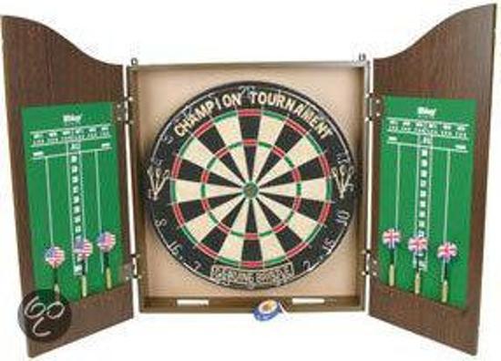 Dartbord Met Kast : Bol longfield dartkabinet inclusief dartbord