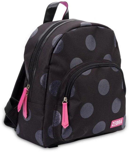 b7f94ac1bff bol.com | Zebra Trends Girls Rugzak Glitter Dots Black