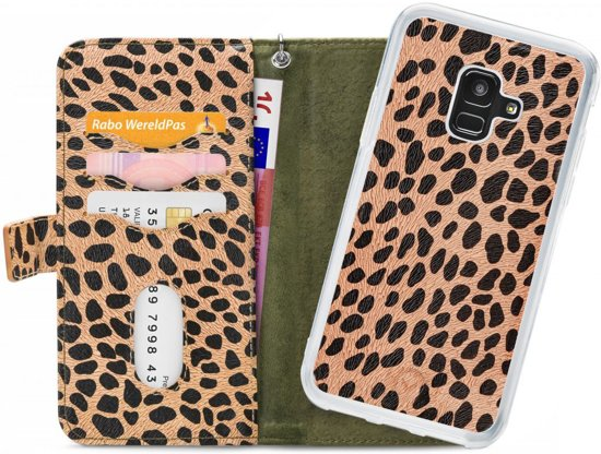 Mobilize 2in1 Gelly Wallet Zipper Case Samsung Galaxy A6 2018 Olive/Leopard