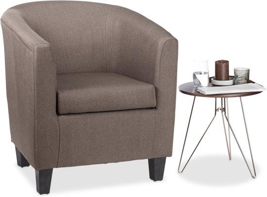 Bol.com relaxdays retro fauteuil bruin relaxstoel vintage