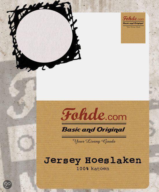 Fohde Hoeslaken Jersey hoeslaken - 100 X 200 cm - Wit