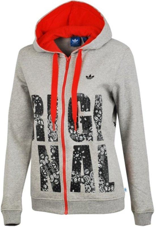 Adidas Originals Hoodie Vest Grijs 36