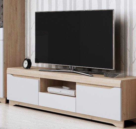 Tv Meubel 150 Cm.Bol Com Meubelleader Tv Meubel Milaan Modern Eiken Wit 150 Cm