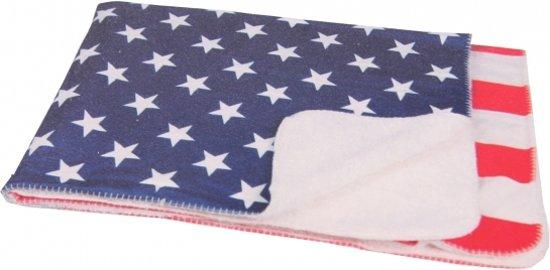 Fleece deken Amerika - fleece plaid