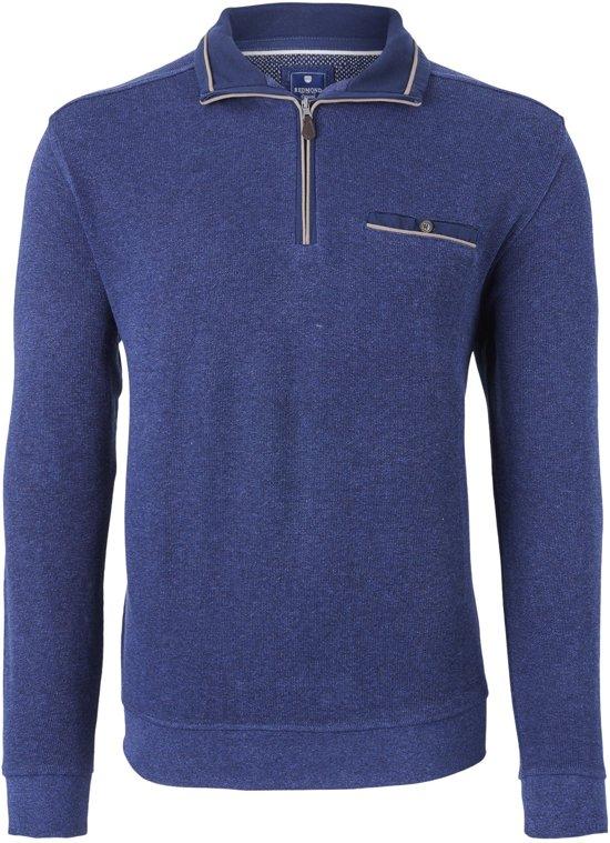Redmond heren trui katoen - schipperstrui - donker blauw