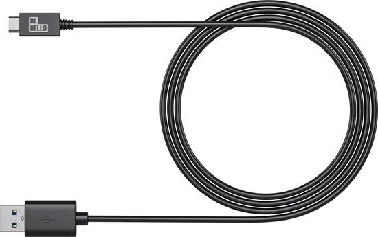 BeHello Telefoon Laad en Sync Kabel - USB-C to USB (1m) Zwart