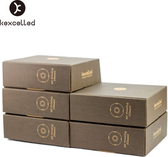 kexcelled-PLAsilk-1.75mm-bruin/brouwn-500g*5=2500g(2.5kg)-3d printing filament