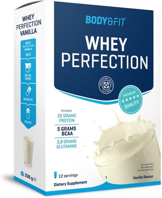 Body & Fit Whey Perfection - Eiwitpoeder / Eiwitshake - 336 gram box - Vanilla milkshake