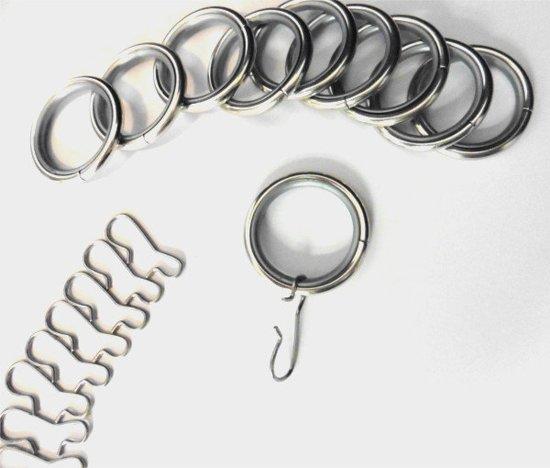 bol.com | Gordijn ringen – 10 stuks met haakjes
