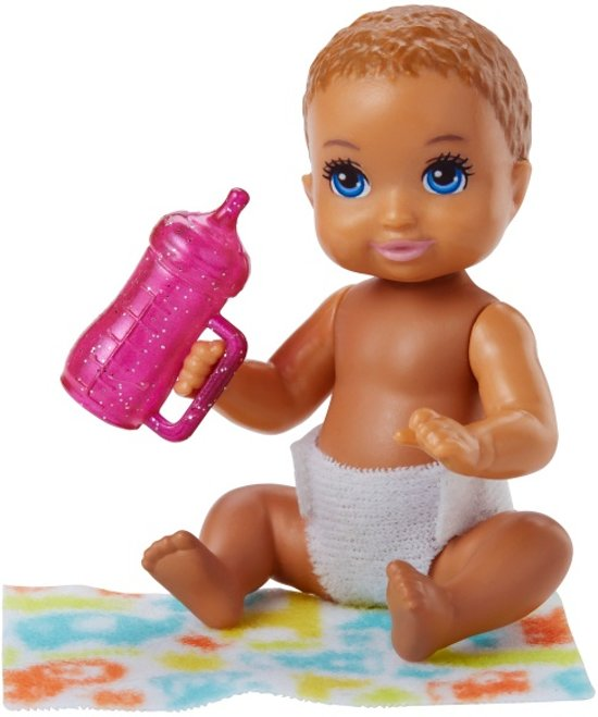 Barbie Babypop Skipper Babysitters Meisjes 6 Cm Bruin (fhy78)