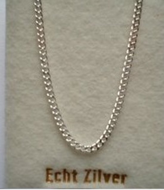 Robimex Collection Ketting Gourmet 60 cm 2,2 mm - Zilver