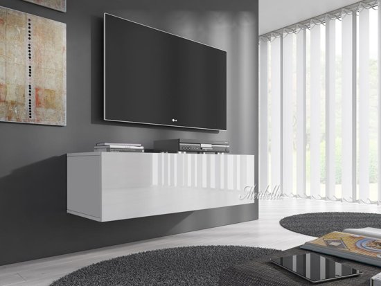 tv meubel flame wit 100 cm. Black Bedroom Furniture Sets. Home Design Ideas