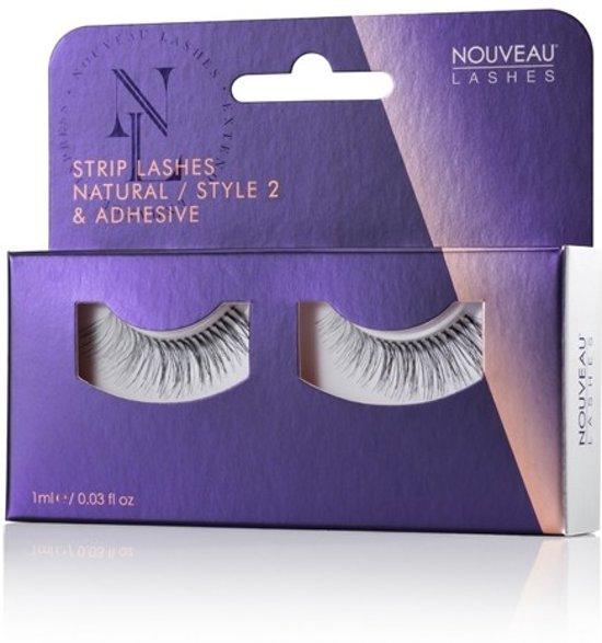 Nouveau Lashes - Strip Lashes Natural / Style 2 & lijm