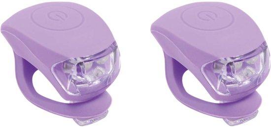 Urban Proof siliconen fietslampjes set Pastel violet