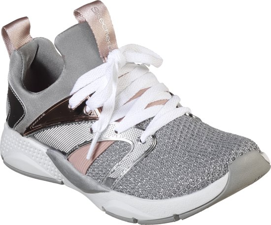 950e4cce56b Skechers Shine Status Sneakers Meisjes - Silver - Maat 32