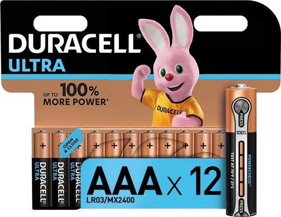 Duracell Ultra Power AAA  batterijen - 12 stuks