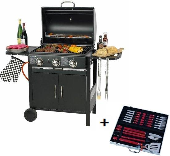 Bbq Bol Com.Maxxgarden Gas Barbecue 3 Branders 129x55x100 Cm Gratis Bbq Set